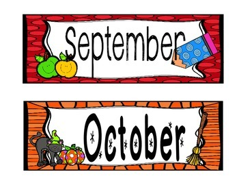 Fun and Funky Calendar Headers for the School Year