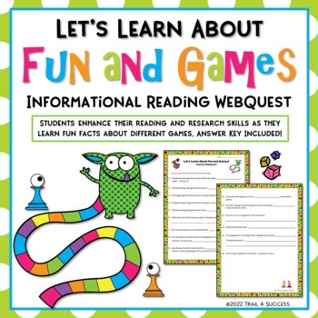 Fun and Games Webquest - Fun Reading Internet Research Activity