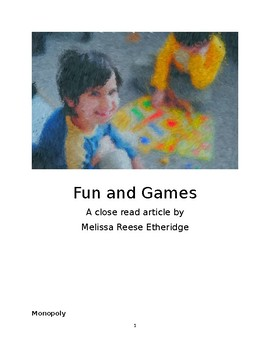 Fun and Games close read article