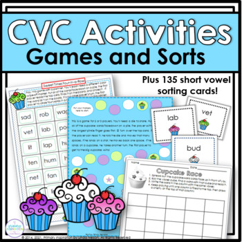 Fun and Games with Short Vowels: Sweet Treats CVC Words