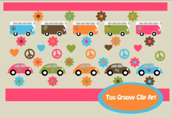 Fun and Groovy Clip Art for Personal and Commercial Use ** 40 Images**