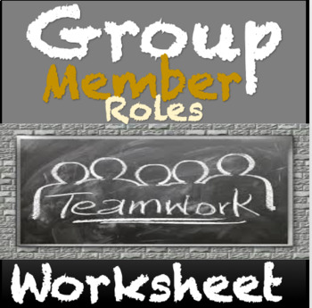 Group Member Role Cards: Motivator, Team Captain, Time Keeper Back to School