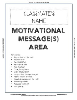 Motivational Test Prep Activities and Resources