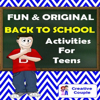 Back to School Activities  for TEENS - FUN AND ORIGINAL