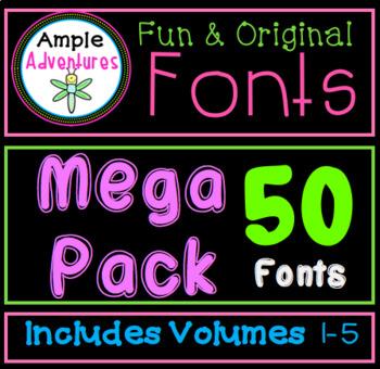Fun and Original Fonts MEGA Pack