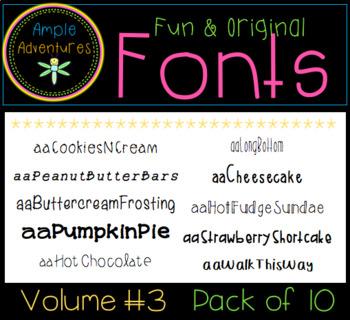 Fun and Original Fonts (Volume 3)