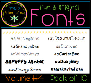 Fun and Original Fonts (Volume 4)