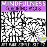 Simple and Fun Coloring Pages for Mindfulness Hand-drawn