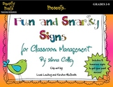 Fun and Snarky Signs for Classroom Management