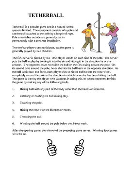 Fun and Unique Elementary Health and PE - Activities and Worksheets
