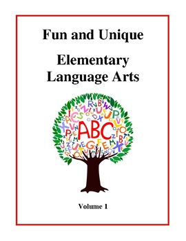Fun and Unique Elementary Language Arts - Volume 1 Worksheets