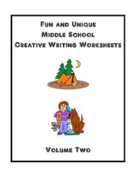 Fun and Unique Middle School Creative Writing Worksheets - Volume Two