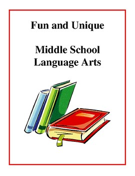 Fun and Unique Middle School Language Arts Worksheets