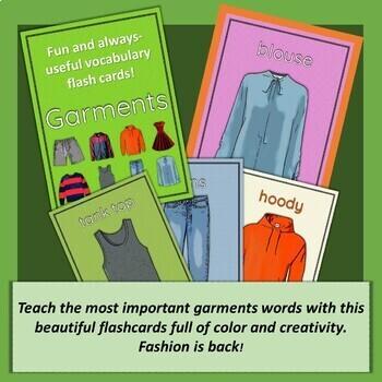Fun and always-useful Garment flash cards!
