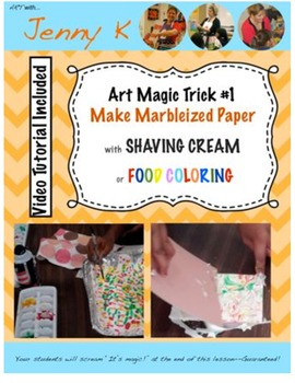 Fun Classroom Art Activity! Make Marbleized Paper with Shaving Cream!