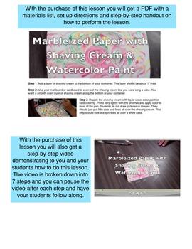 Fun Classroom Art Activity! Make Marbleized Paper with Shaving Cream!