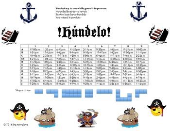 Fun and engaging game to practice telling time in Spanish.
