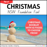 NSW Kindergarten Christmas Activity Booklet in NSW Font