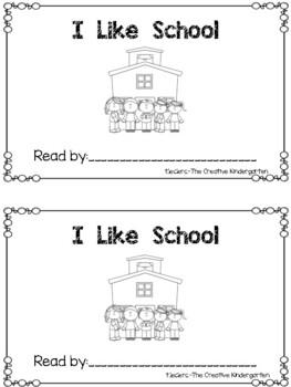 I Like School: Emergent Reader & Math mini-Pack {Common Core Aligned}