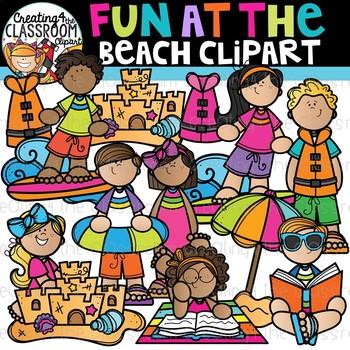 Fun at the Beach Clipart {Summer Clipart}