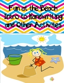 Fun at the Beach Intro to Handwriting and more