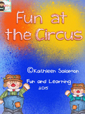Fun at the Circus Literacy and Math Activities