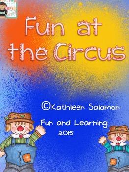 Fun at the Circus Literacy and Math Activities
