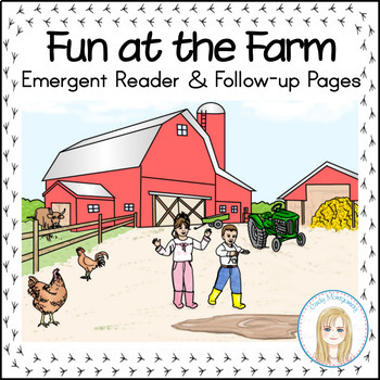 Fun at the Farm Emergent Reader with Vocabulary & Sentence Matching sheets