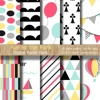 Fun at the Park Digital Paper Pack Collection (3003)