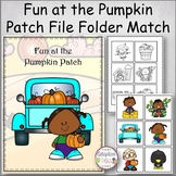 Fun at the Pumpkin Patch File Folder Match