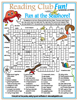 Fun at the Seashore Crossword Puzzle