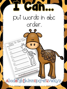 Fun at the Zoo {Writing & Word Work}