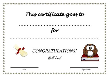 Fun certificates for your students