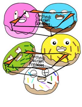 Fun colored doughnuts