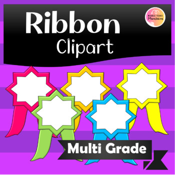 Fun cute ribbon award spots clipart