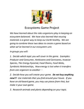 Fun ecosystem wrap up- energy, symbiotic relationship, producers/predator game