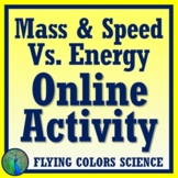 NGSS MS-PS3-1 MS-PS2-2  ONLINE ACTIVITY!  Mass v. Energy & Speed v. Energy