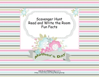 Fun Facts About Mother's Day- Scavenger Hunt- Read The Roo