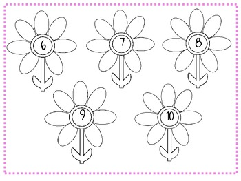 Number Facts to 10- Flower theme