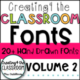 Creating4 the Classroom Fonts Volume 2