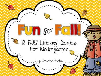 Fun for Fall:  12 Fall Literacy Centers for Kindergarten!