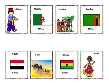 Fun geography card game for kids--goes with Heart Tours packs