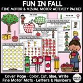 Fun in Fall - Fine & Visual Motor - Color Write Cut Glue