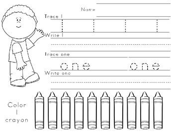 Fun in School - Writing Numbers 1-10