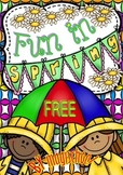 Fun in Spring FREEBIE Set of Printables for Kinders and First Graders