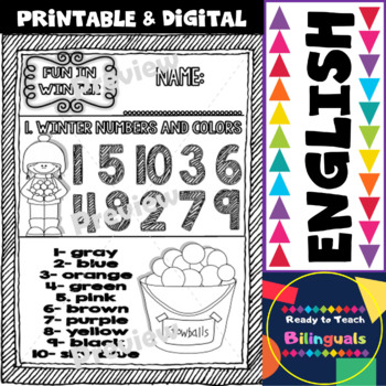 Fun in Winter Freebie Set of Printables for Kinders and First Graders