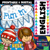 Fun in Winter Freebie Set of Printables for Kinders and Fi