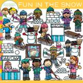 Fun in the Snow Winter Clip Art