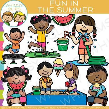 Fun in the Summer Clip Art