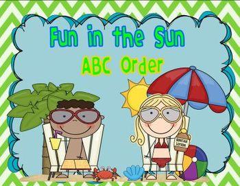 Fun in the Sun ABC Order FREEBIE
